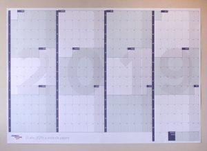 Calendario 2019 tamaño A0