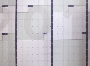 Calendario gigante de pared a año vista 2019