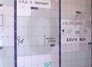 Calendario gigante de pared a año vista 2019 reescribible