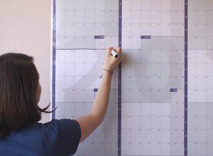 Calendarista calendario gigante 2019 laminado