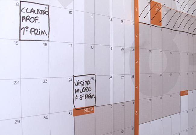 Calendario escolar 2018-2019 gigante