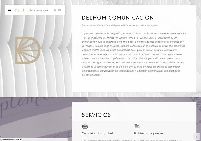 Delhom Comunicacion Web