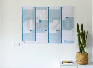 Calendario anual gigante 2019-2020