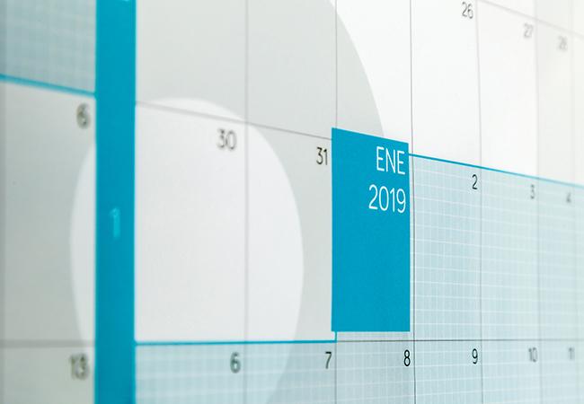 Calendario anual gigante de pared curso escolar 2019-2020 reescribible