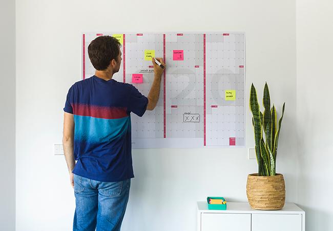 Calendario anual gigante 2020 impreso en papel