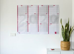 Calendario anual gigante de pared reescribible