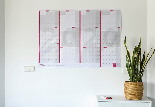 Calendario anual gigante de pared reescribible