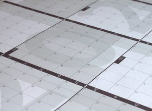 Calendario anual gigante 2020 meses horizontales